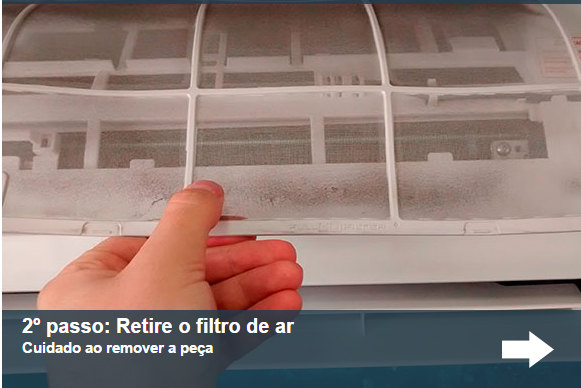 Retire o filtro do ar